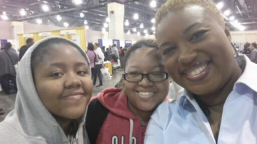 My 1st ever student and her daughter at Philly Ntl. College Fair